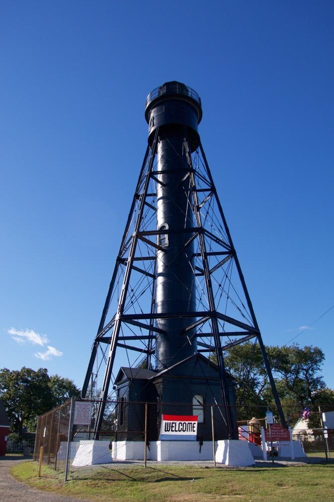 Exterior of Tinicum Rear Range Lighthouse.