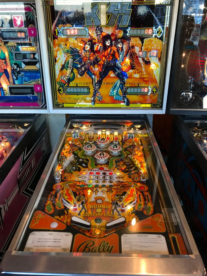 KISS pinball machine.