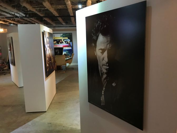 Photograph of Bruce Springsteen in the Clinch gallery.