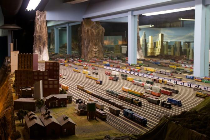 Model train yard.