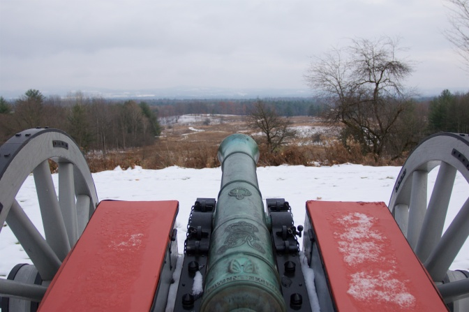 View of battlefield from looking down battle of cannon.