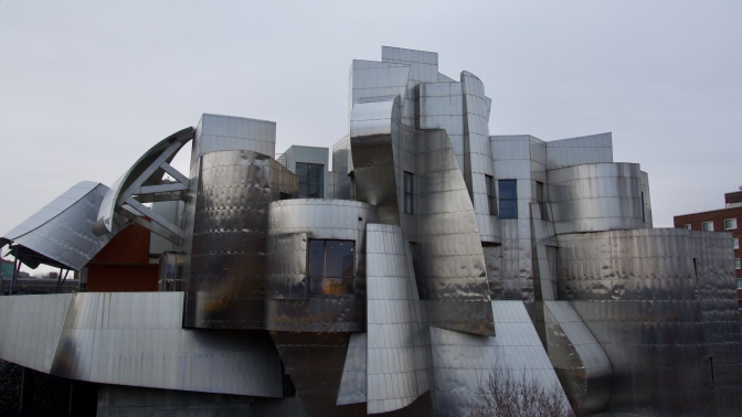 Exterior of Weisman Art Museum.