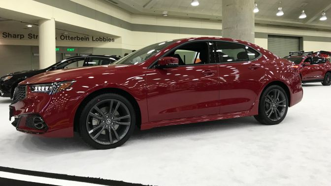 Red Acura TLX A-Spec.