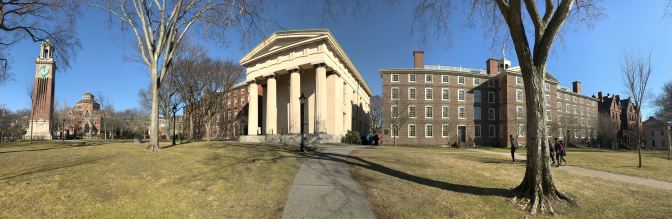 Panorama of Brown University campus.