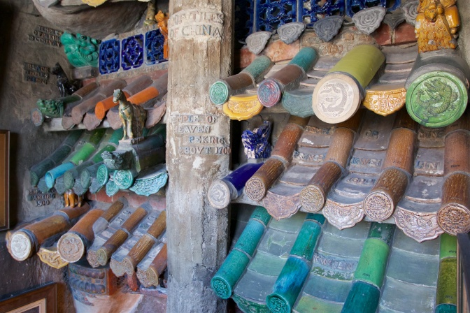 Roof tiles from China.