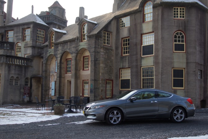 2012 Honda Accord in front of Fonthill Castle.