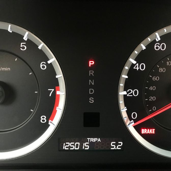 Honda Accord odometer reading 125015 TRIP A 5.2.