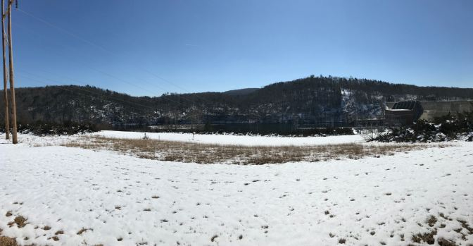 Panorama of Housatonic River and Shepaug Dam.