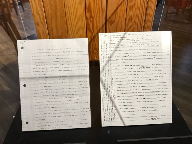 Two pages of letter written by Whitey Bulger.