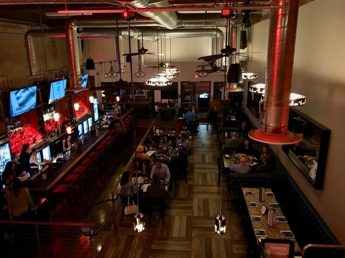 View of interior of Therapy gastro pub.