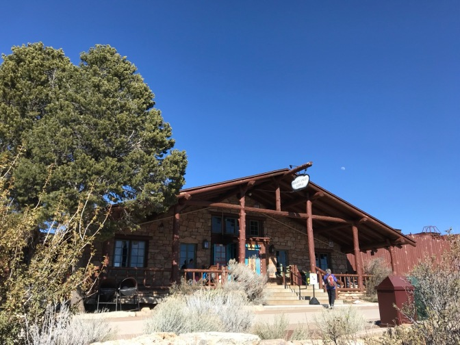 Exterior of Bright Angel Lodge.