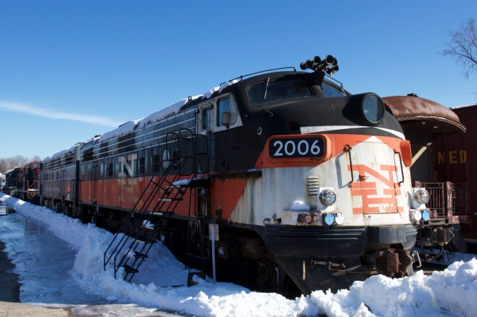 Exterior of New Hampshire 2006, a diesel engine.