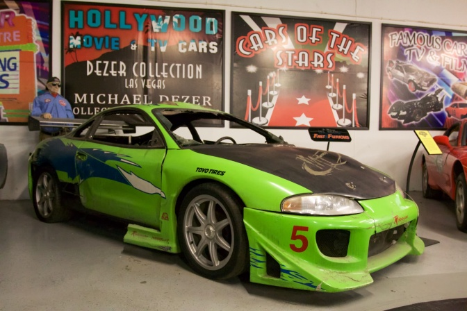 Yellow-green Mitsubishi Eclipse from The Fast and the Furious.