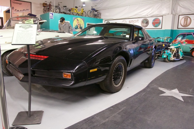 Exterior of Black Pontiac Trans-Am decorated as KITT.