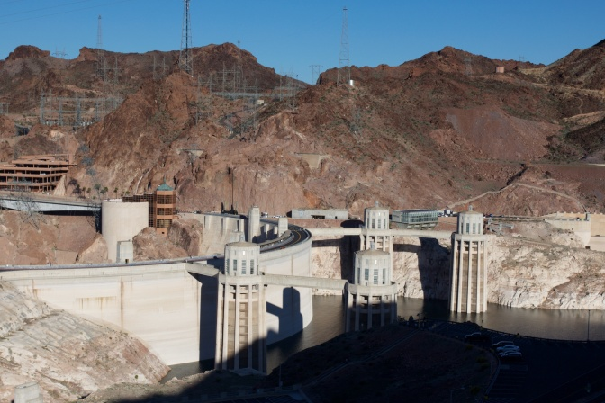Close-up of Hoover Dam.