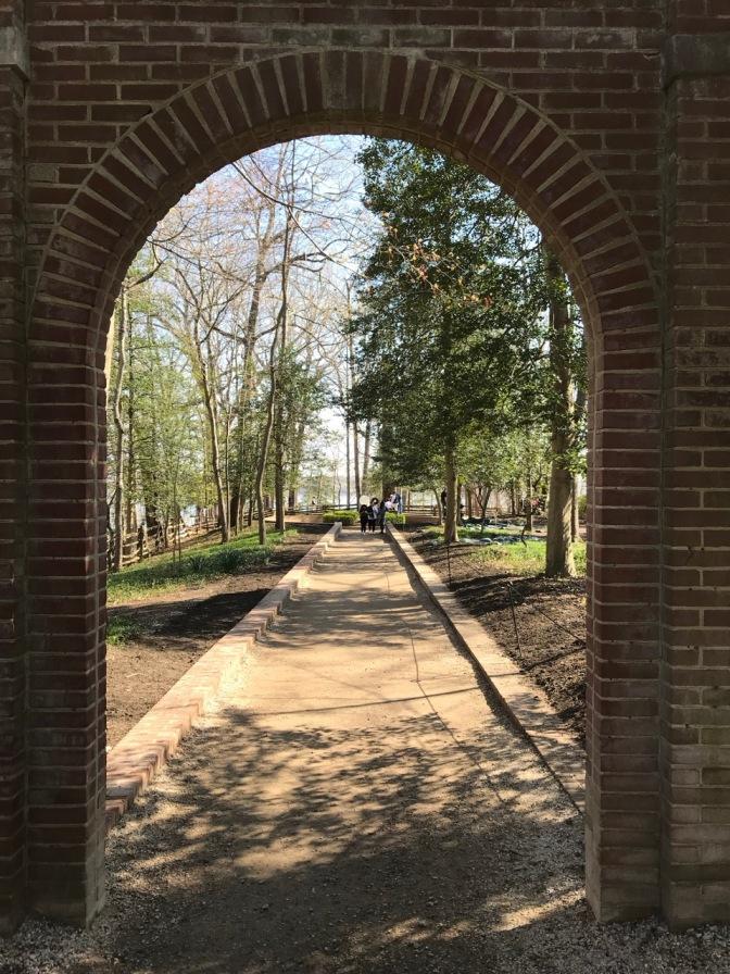 Brick archway leading to slave graveyard.