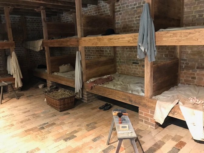 Bunk beds in slaves quarters.