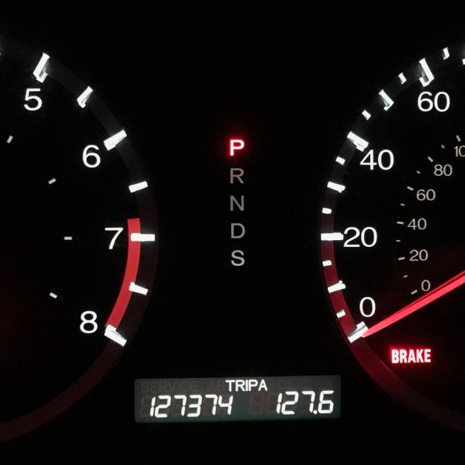 Honda Accord odometer reading 127374 TRIP A 127.6