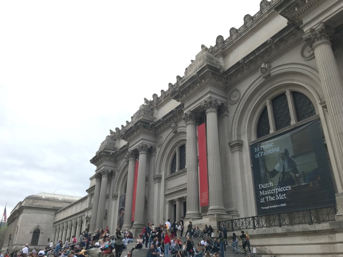 Exterior of the Metropolitan Museum of Art.