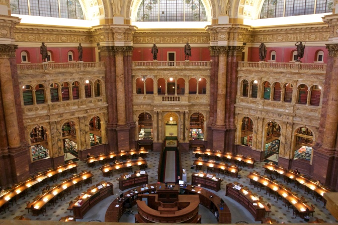Reading Room of Library of Congress.