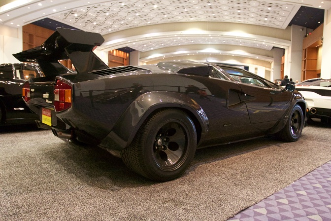 Black Lamborghini Countach.