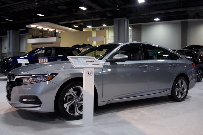 2019 Honda Accord sedan in silver.