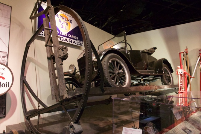 Model T Ford car on Turn-Auto Assembly.