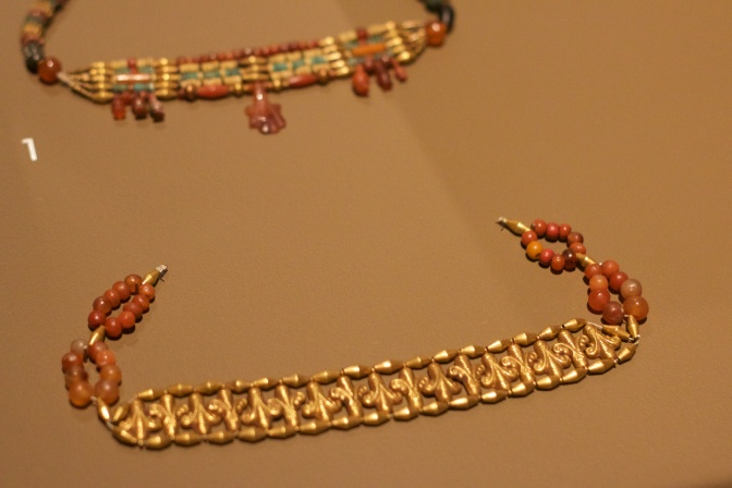 Gold necklaces from Egypt.