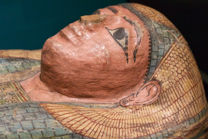 Painted mummy coffin.