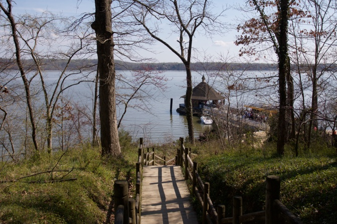 Path in woods leading to Potomac River and wharf.