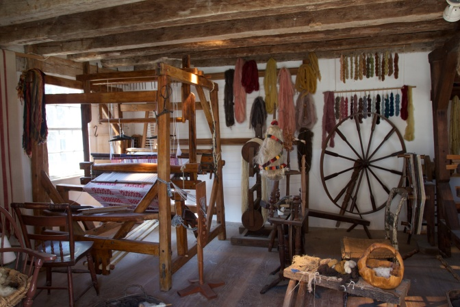 Spinning house of Mount Vernon.