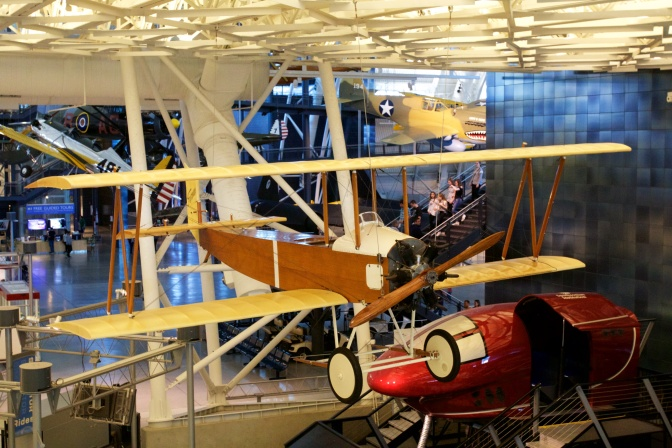 Farman Sport wooden bi-plane.