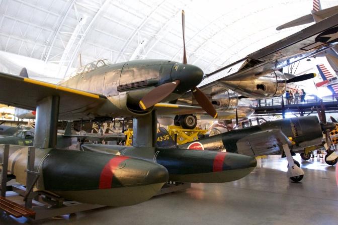 Aichi M6A plane on pontoons.