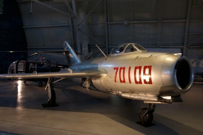 MiG-15 fighter jet.