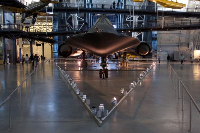 SR-71 Blackbird spy plane.