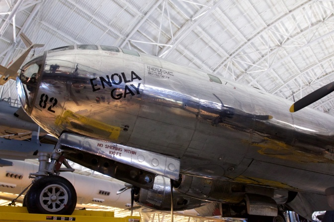 Nose and front landing gear of the Enola Gay.