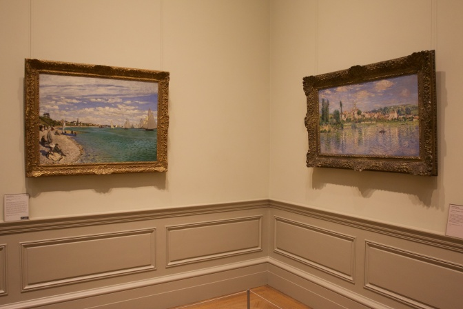 Two Monet paintings.