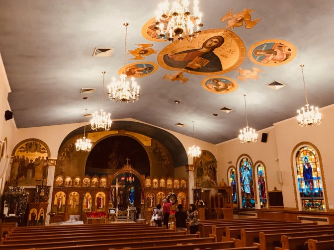 Interior of St. George Orthodox Church.