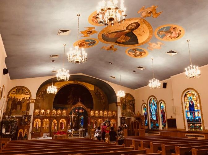 Interior of St. George Orthodox Church.