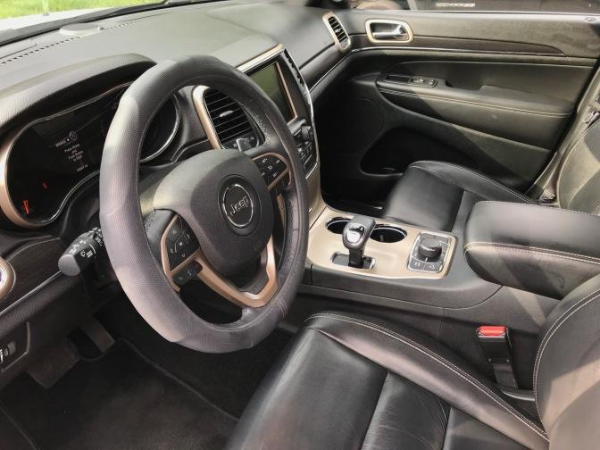 Interior of Jeep Grand Cherokee.