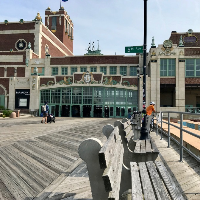 Photo of Asbury Park boardwalk and convention center.