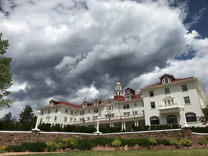Exterior of the Stanley Hotel.