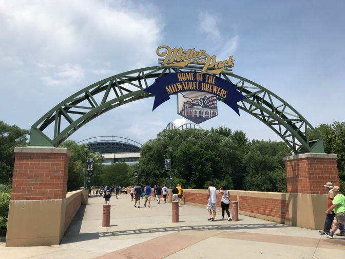 Entrance to Miller Park, Home of the Milwaukee Brewers