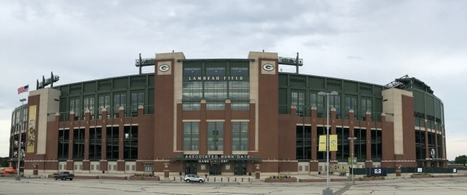 Exterior of Lambeau Field.