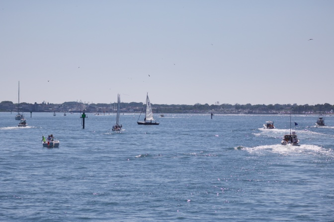 Cape May Harbor, filled with ships and boats.