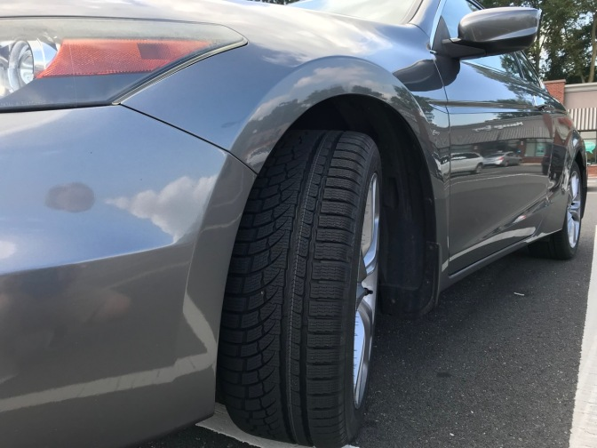 2012 Honda Accord coupe with Nokian tires.