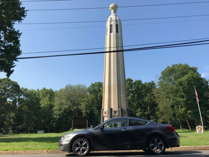 Honda Accord in front of Edison Tower.