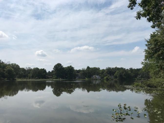 Lakefront of Van Nest Park.