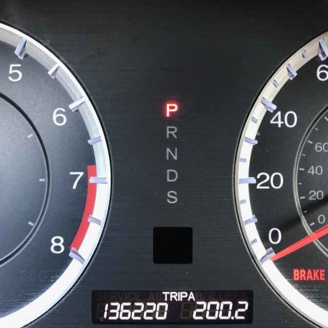 Car odometer reading 136220 TRIP A 200.2