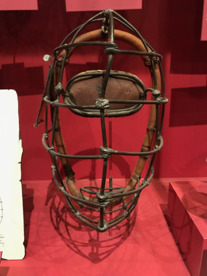 19th century catchers mask.
